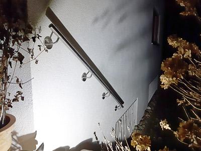Edelstahl Handlauf gerade an Außentreppe