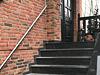 Edelstahl Treppenhandlauf gerade an Eingangstreppe