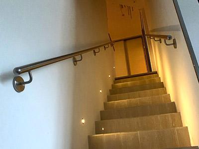 Treppenhandlauf aus Edelstahl gerade