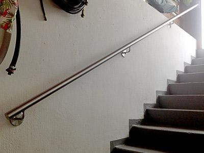 Treppenhandlauf gerade, Ansicht von unten