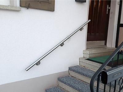 Treppenhandlauf gerade für Außentreppe
