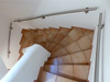 3 Treppenhandläufe gewalzt für 2 mal viertelgewendelte Innentreppe