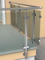 Konfigurator Geländer mit einer Glasfüllung