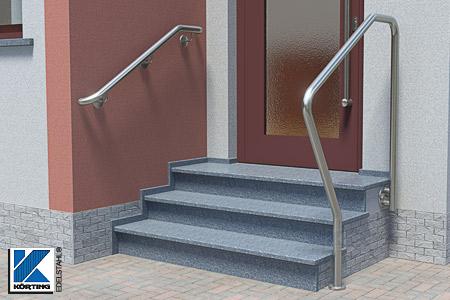 Edelstahl Handlauf Außen - Handläufe für die Montage im Außenbereich an der Wand oder freistehend