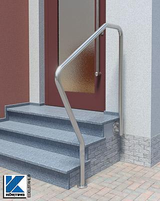 Edelstahl Handlauf freistehend Außentreppe