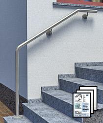 Aufmaßblätter für Edelstahl Handläufe zur Wandmontage