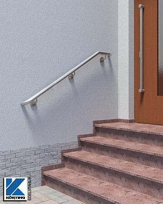Treppenhandlauf Edelstahl außen Wandmontage
