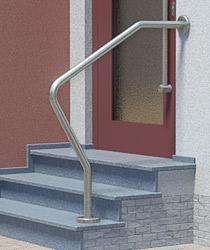 gebogener Treppenhandlauf am Hauseingang