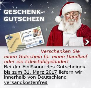 Geschenk-Gutscheine - Sven Körting EDELSTAHL wünscht schöne Weihnachten!