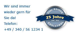 Die Firma Sven Körting feiert in diesem Jahr ihr 25 jähriges Jubiläum !