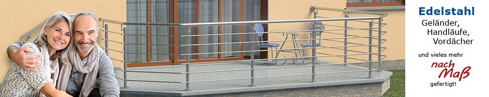 Körting Geländer aus Edelstahl für Terrassen - Edelstahl Handlauf nach Maß mit 45° - Bögen in einem Stück gebogen
