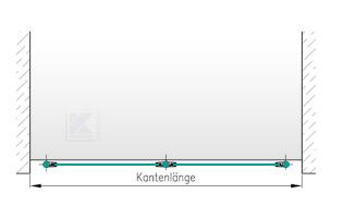 Balkongeländer Edelstahl - Grundriss in I-Form seitliche Montage