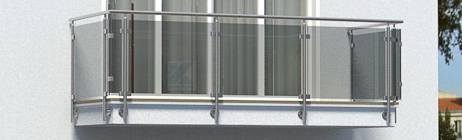 Balkongeländer Edelstahl Preise für Geländer mit Glas in seitlicher Montage
