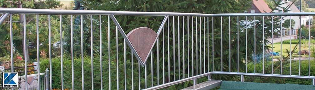 Balkon Handlauf aus Edelstahl gebogen