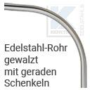 Edelstahlprofil - Konfigurator: Edelstahlrohr gewalzt mit geraden Schenkeln