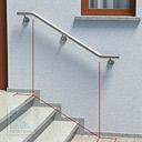 Treppenhandlauf mit 2 Bögen - barrierefrei gestaltet durch waagerechten Auslauf der Handlaufenden