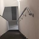 Handlauf aus Edelstahl eine Teilung erfolgt ab sechs Metern gesteckte Rohrlänge