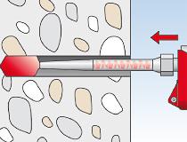 fischer Injektionsmörtel FIS HB 345 S und Highbond-Ankerstange FIS HB II-A - Vorsteckmontage in Beton - Montage 03