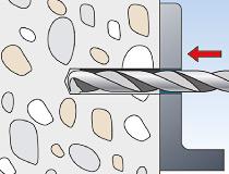 fischer superbondmörtel FIS SB 390 S und Ankerstange FIS A - Vorsteckmontage in Beton - Durchsteck-Montage 01