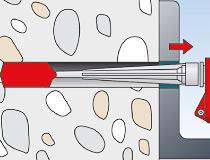 fischer superbondmörtel FIS SB 390 S und Ankerstange FIS A - Vorsteckmontage in Beton - Durchsteck-Montage 03