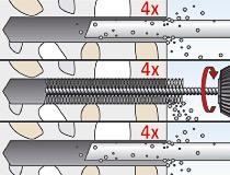 fischer Montagemörtel 300T und Ankerstange FIS A - Vorsteckmontage in Beton - Montage 02