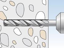 fischer superbondmörtel FIS SB 390 S und Ankerstange FIS A - Vorsteckmontage in Beton -  Vorsteck-Montage 01