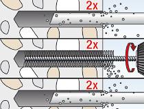 fischer superbondmörtel FIS SB 390 S und Ankerstange FIS A - Vorsteckmontage in Beton - Vorsteck-Montage 02