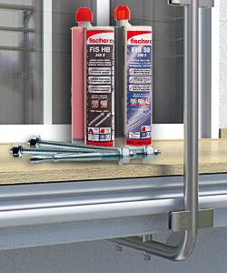 Injektionsmörtel zur Befestigung von Geländern aus Edelstahl