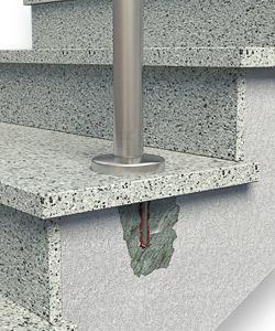Randabstand von Geländerpfosten zu gering - Ausplatzungen bei Belastung des Geländers