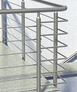 Rohrbogen für Geländerhandläufe aus Edelstahl