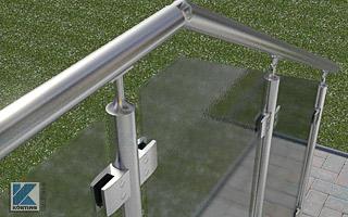 Edelstahl Glasgeländer Bausatz Konfigurator