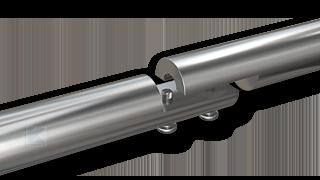 Edelstahl Handlauf - Audführung der Teilung mit einer verschweißten Rohrverschraubung