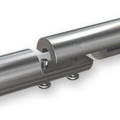 Der Handlauf kann bis zu einer Länge von 6 Meter in einem Stück gefertigt werden. - Explosionsdarstellung der massiven Rohrverschraubung, welche mit den Handlaufenden verschweißt wird