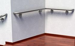 Handlauf aus Edelstahl Preis für Wandmontage an einer Innenecke