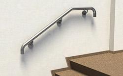 Handlauf aus Edelstahl Preis für gebogenen Handlauf zur Wandmontage an einer Innentreppe