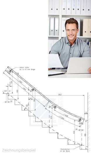 Wir unterstützen Sie bei der Planung ihres Treppenhandlaufes
