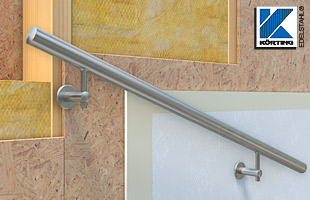 Handlauf im Treppenhaus an Trockenbauwand montieren