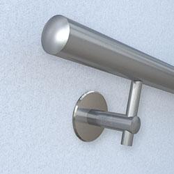 Handlaufbefestigung - Handlaufhalter 643-701 mit Injektionsmörtel und Ankerstange M10
