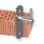 Geländerpfosten - Montage mit einer Wangenplatte