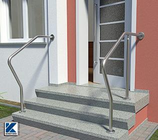 Edelstahl Geländer als Geländerbügel aus Edelstahlrohr 42,4x2,6 mm in einem Stück gebogen