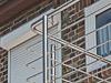 Detail Balkongeländerecke, Pfosten unterseitig montiert