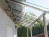 Glasüberdachung aus Edelstahlprofilen