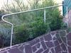 Geländerbügel aus Edelstahl Sonderlösung - mit 2 Querstreben im Stabhaltersystem 25 verschraubt