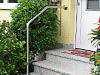 kurzer Edelstahlgeländerbügel Typ 2b mit Wandbefestigung füe 3 Stufen