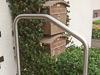 Geländerbügel aus Edelstahl auf freitragenden Stufen - Typ 3a