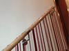 Holzhandlauf mit Edelstahlhaltern - Zwischenhalter aus Edelstahl