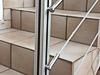 Seilverschraubungen an Aluminiumpfosten verschraubt