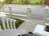 Edelstahl Gartenzaun mit Zierkegeln zum Aufstecken und Verschrauben