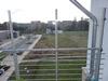 Geländerpfosten für Balkongeländer zur Montage eines Windschutzes