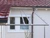 Edelstahl Vordachkonstruktion erstellt aus Geländerkomponenten